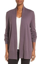 Nordstrom Women's Collection Open Front Cashmere Cardigan Purple Polish