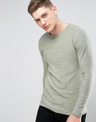 Only And Sons Knitted Jumper With Raw Curved Hem Sea Grass Green