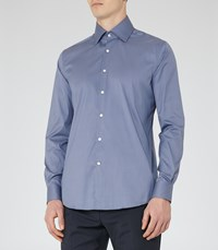 Reiss Joshua Mens Fitted Shirt In Blue