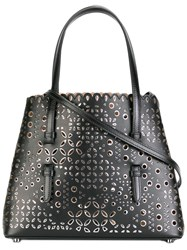 Azzedine Alaia Cut Off Detail Tote Black