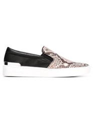 Michael Michael Kors Python Print Slip On Sneakers Nude And Neutrals