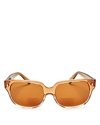 Corinne Mccormack Emile Oversized Square Reader Sunglasses 57Mm Taupe Fade Brown Solid