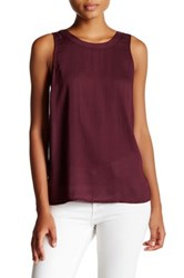 14Th And Union Self Tie Knit Tank Petite Red
