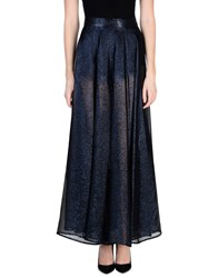Michel Klein Long Skirts Dark Blue