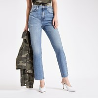 River Island Mid Blue Straight Leg Jeans