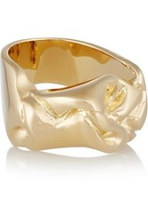 Jennifer Fisher Bow Silver Plated Ring Gold