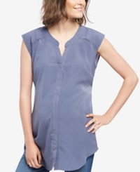 Motherhood Maternity Split Neck Tunic Nightshadow