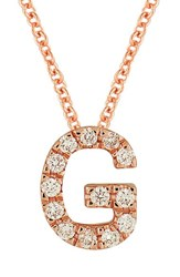 Bony Levy Women's Pave Diamond Initial Pendant Necklace Nordstrom Exclusive Rose Gold G