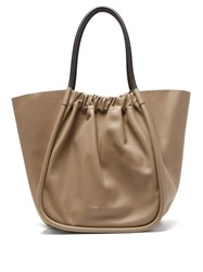Proenza Schouler Ruched Xl Leather Tote Bag Beige