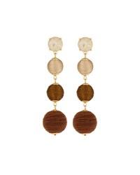 Lydell Nyc Thread Wrapped Ball Drop Earrings Brown