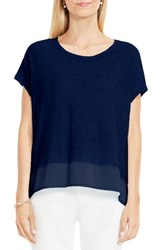 Vince Camuto Women's Two By Mixed Media Step Hem Tee