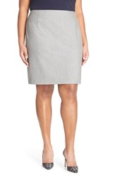 Plus Size Women's Halogen 'Volga' Stretch Suit Skirt