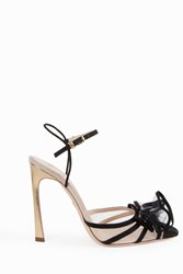 Giambattista Valli Women S Pointed Ruffle Sandals Boutique1 Vb49 Nero Ballerina