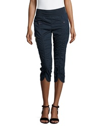 Xcvi Iris Ruched Center Crop Pants Navy