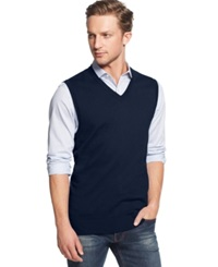 Club Room Big And Tall Sweater Vest Only At Macy's Navy Blue