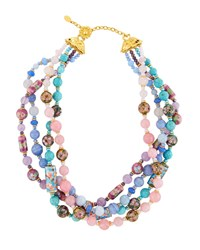 Jose And Maria Barrera Mixed Pastel Twist Necklace Multi
