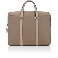 Delvaux Men's Double Handle Briefcase Tan