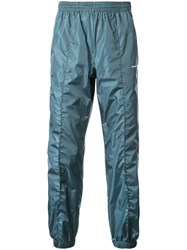 Off White Logo Track Trousers Blue