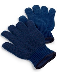 Martha Stewart Collection Set Of 2 Heat Resistant Grilling Gloves Blue