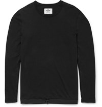 Reigning Champ Drawstring Hem Cotton Jersey T Shirt Black