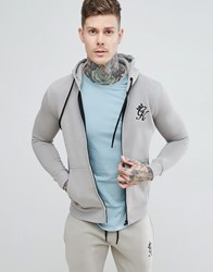 Gym King Tracksuit Top In Rock Grey