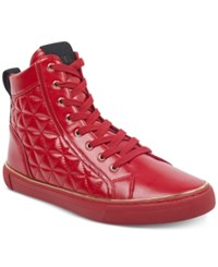Guess Melo High Top Sneakers Shoes Red