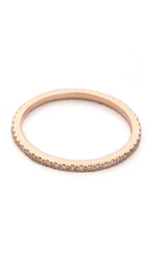 Ef Collection Diamond Eternity Stack Ring Rose Gold Clear