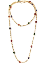 Chanel Vintage Double Glass Bead Necklace