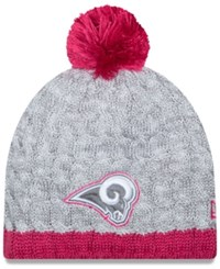New Era Women's St. Louis Rams Breast Cancer Awareness Knit Hat Gray Pink