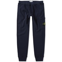 Stone Island Garment Washed Slim Sweat Pant Blue