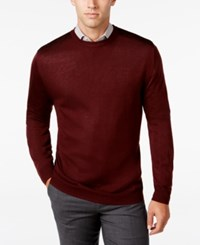 Ryan Seacrest Distinction Men's Contrast Shoulder Sweater Only At Macy's Cordovan