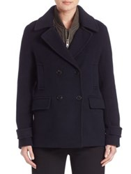 Vince Wool And Cashmere Peacoat Coastal Blue