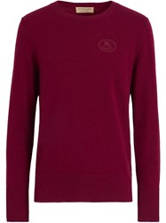 Burberry Cashmere Logo Embroidered Jumper