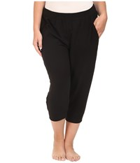 Yummie Tummie Plus Size Baby French Terry Capris Black Women's Capri