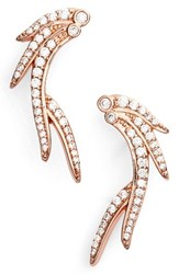 Kendra Scott Women's Daphne Earrings White Cz Rose Gold