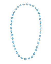 Emily And Ashley Long Oval Crystal Necklace Blue