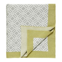 Sanderson Home Wisteria Blossom Knitted Throw