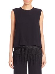 Adam By Adam Lippes Fringe Hem Tank Top Black