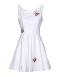 Philipp Plein Couture Dresses Short Dresses Women White
