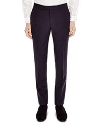 Sandro Notch 50'S Slim Fit Trousers Charcoal Gray