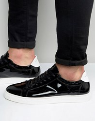 Selected Homme David Patent Leather Trainers Black