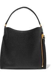 Tom Ford Alix Medium Textured Leather Tote Black