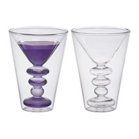 Bitossi Home Double Walled Cocktail Glasses Set Of 2 Martini