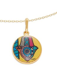 Alex And Ani Hamsa Art Infusion Necklace Charm Gold