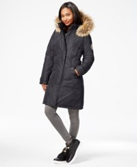 Madden Girl Madden Girl Faux Fur Trim Long Parka Titanium