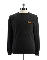 Superdry Crew Neck Sweater Charcoal