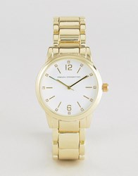 French Connection Watch Gold Tone Gold