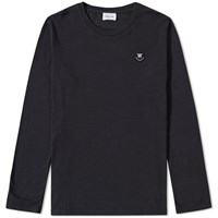Wood Wood Long Sleeve Peter Tee Black