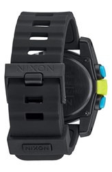 Women's Nixon 'The Unit 40' Round Digital Watch 40Mm Chartreuse Blue Black