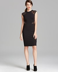 French Connection Dress Viven Paneled Jersey Black